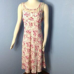 ➕ PLUS 16 Ann Taylor Loft Spring Floral Lace Dress